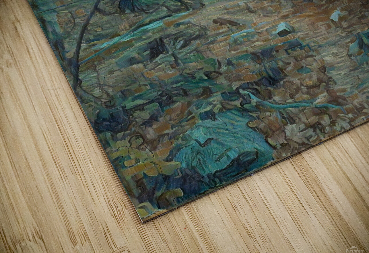 Mountain creek inspired by van Gogh HD Sublimation Metal print