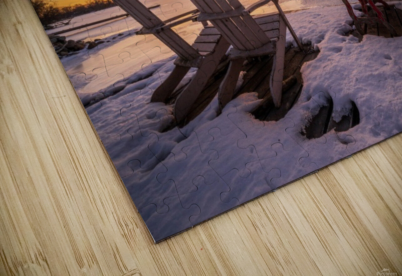 Morning by the Frozen River HD Sublimation Metal print