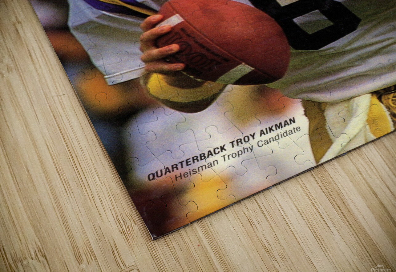 1988 Troy Aikman UCLA Football Poster HD Sublimation Metal print