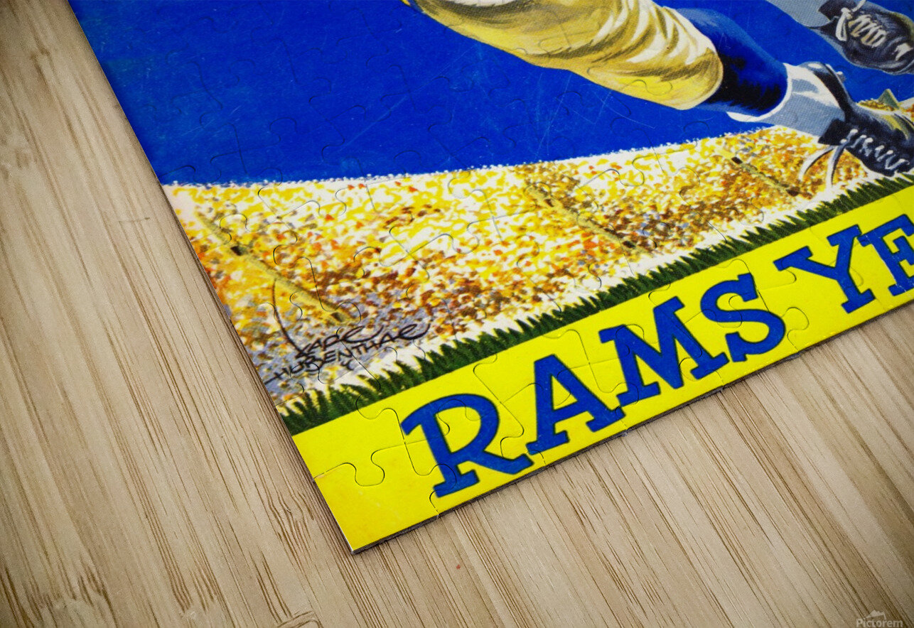 1958_National Football League_Los Angeles Rams_Yearbook_Row One HD Sublimation Metal print