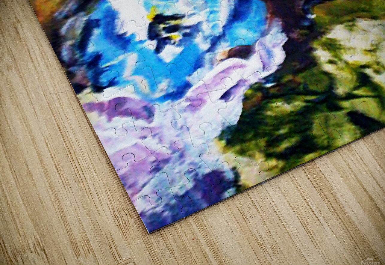 Primary Blue1 HD Sublimation Metal print