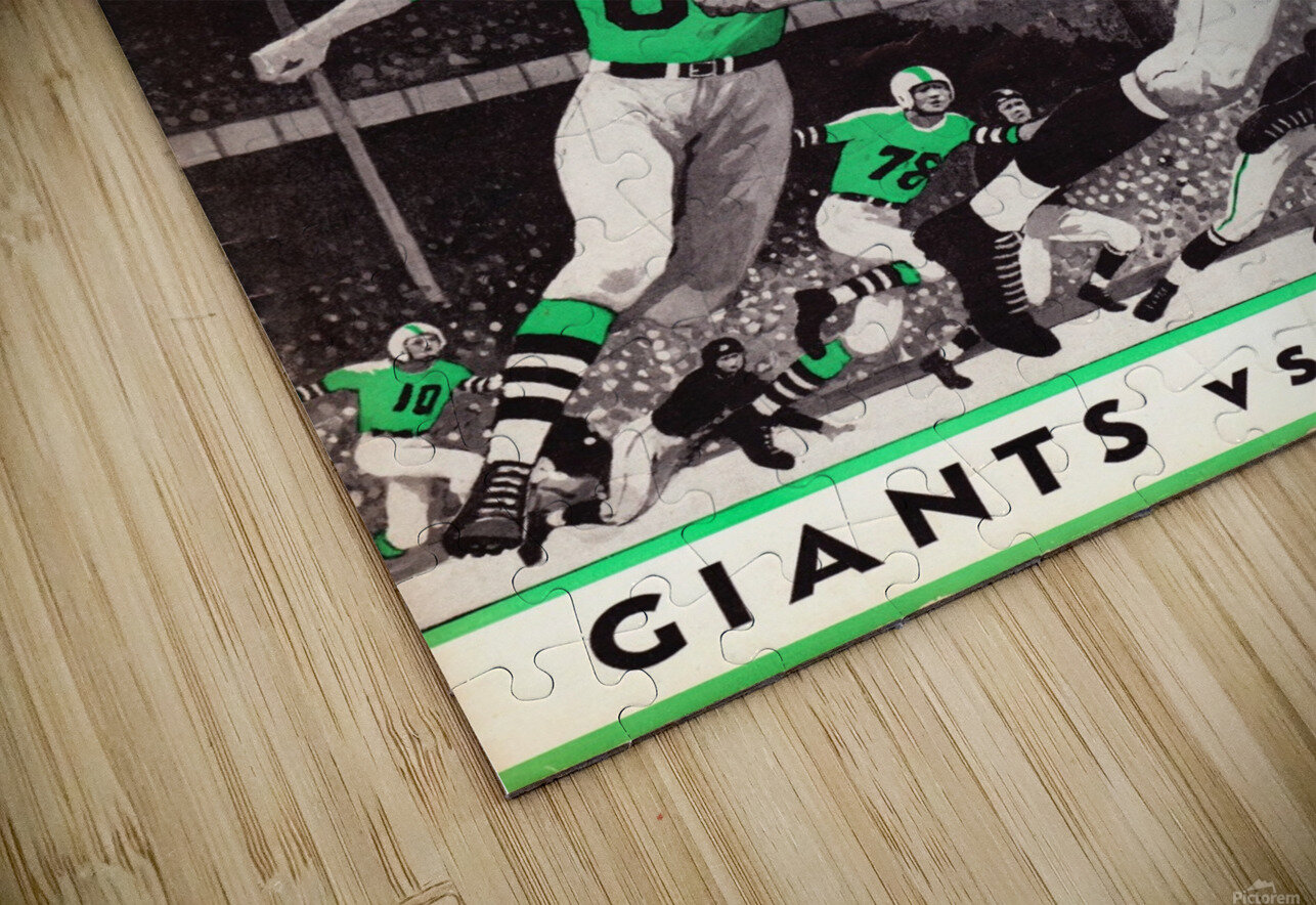 1957 New York Giants vs. Eagles Football Program Canvas HD Sublimation Metal print
