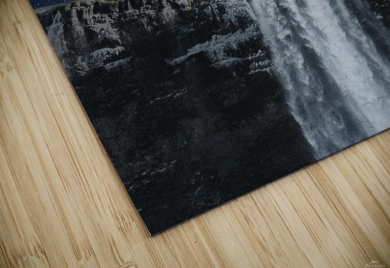 Moon Waterfall Fantasy HD Sublimation Metal print