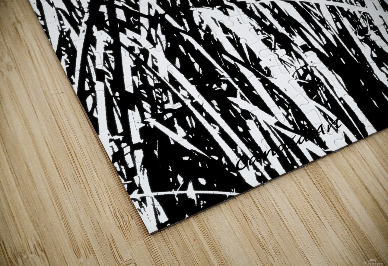 Black & White Nature Texture HD Sublimation Metal print