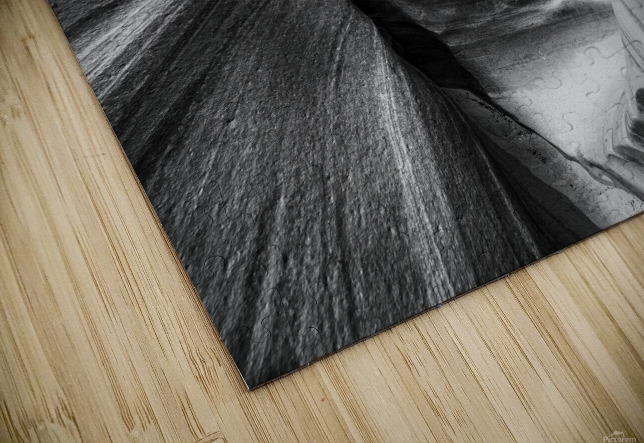 B&W Zebra Slot Canyon II HD Sublimation Metal print