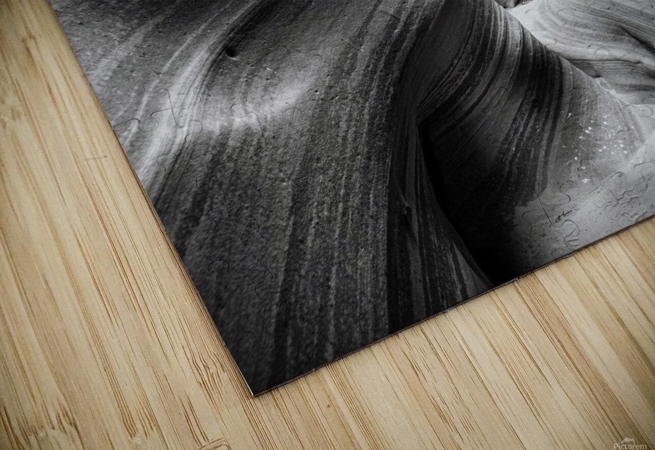 B&W Zebra Slot Canyon I HD Sublimation Metal print