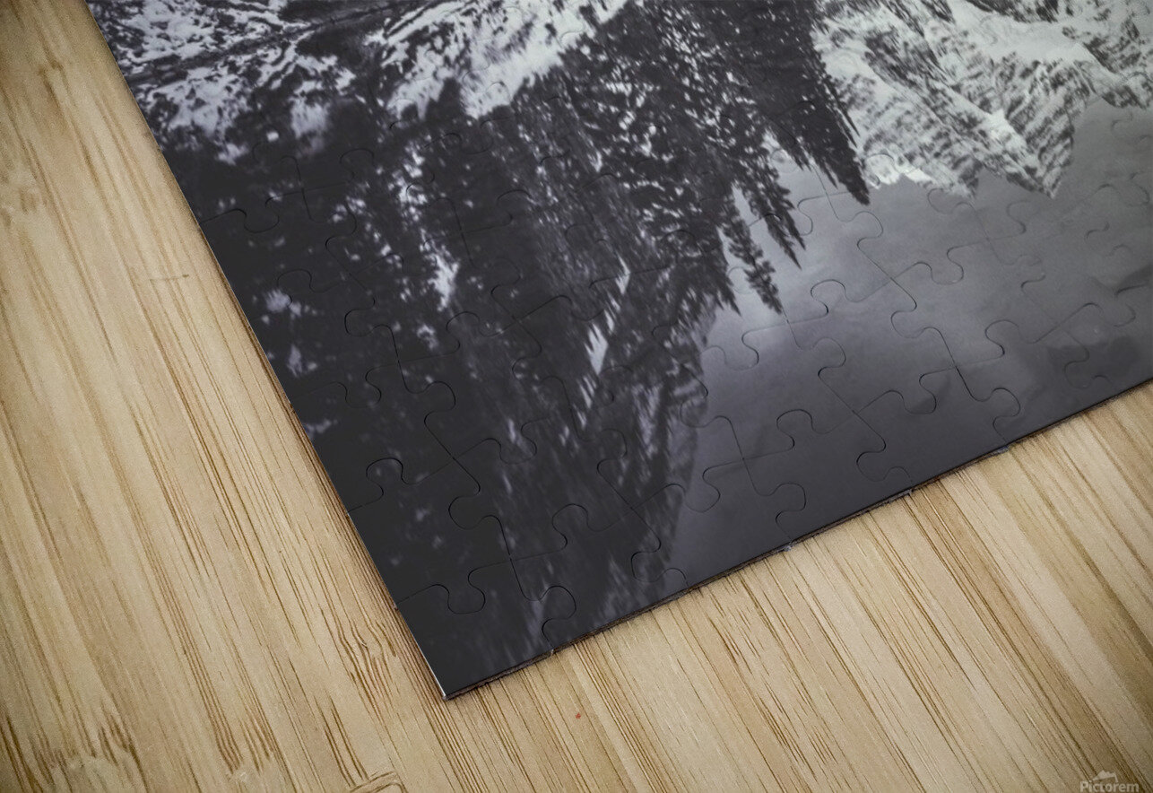 B&W Maroon Bells  HD Sublimation Metal print