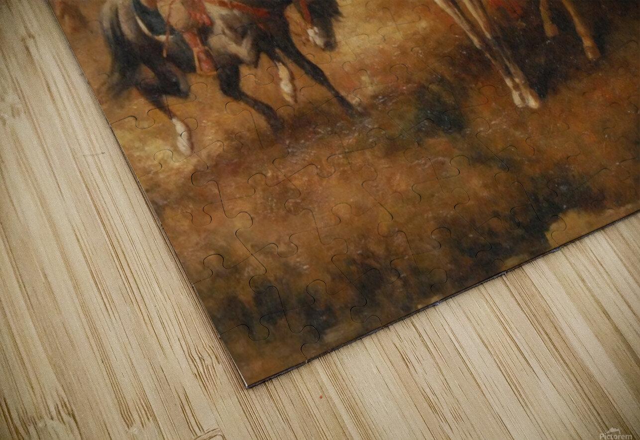 Bedouins on Horseback HD Sublimation Metal print