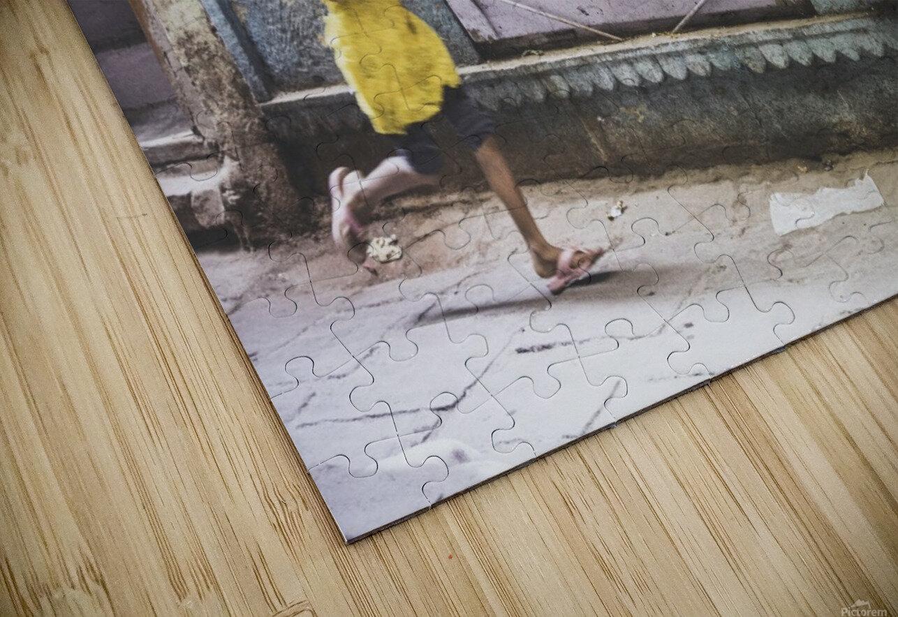 Varanasi Window - The girl Impression de sublimation métal HD