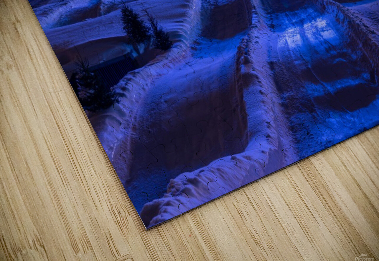 High angle in the slide HD Sublimation Metal print