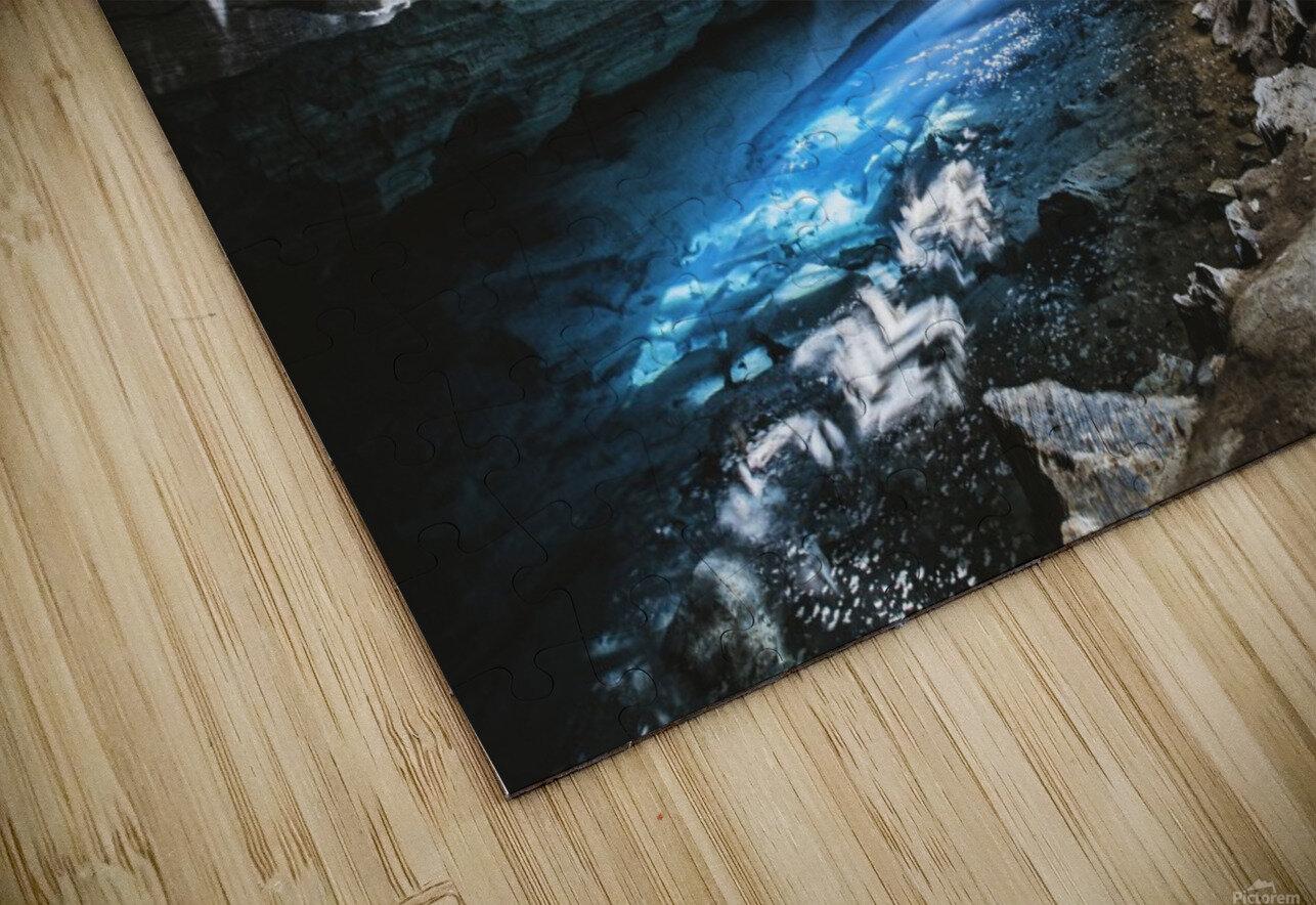 The Blue Cave HD Sublimation Metal print