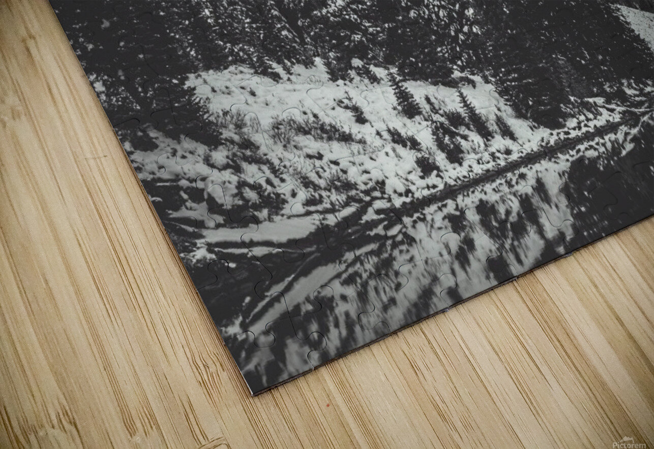Maroon Bells B&W  HD Sublimation Metal print