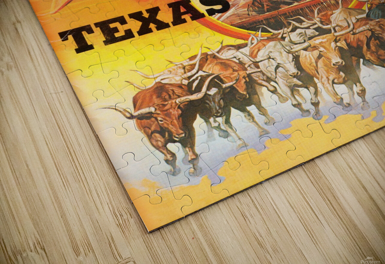 1984 Texas Longhorns Media Guide College Football Poster HD Sublimation Metal print