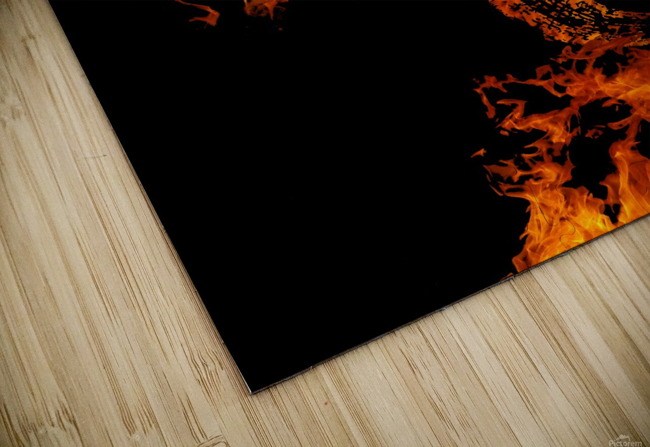 Burning on Fire Letter A HD Sublimation Metal print