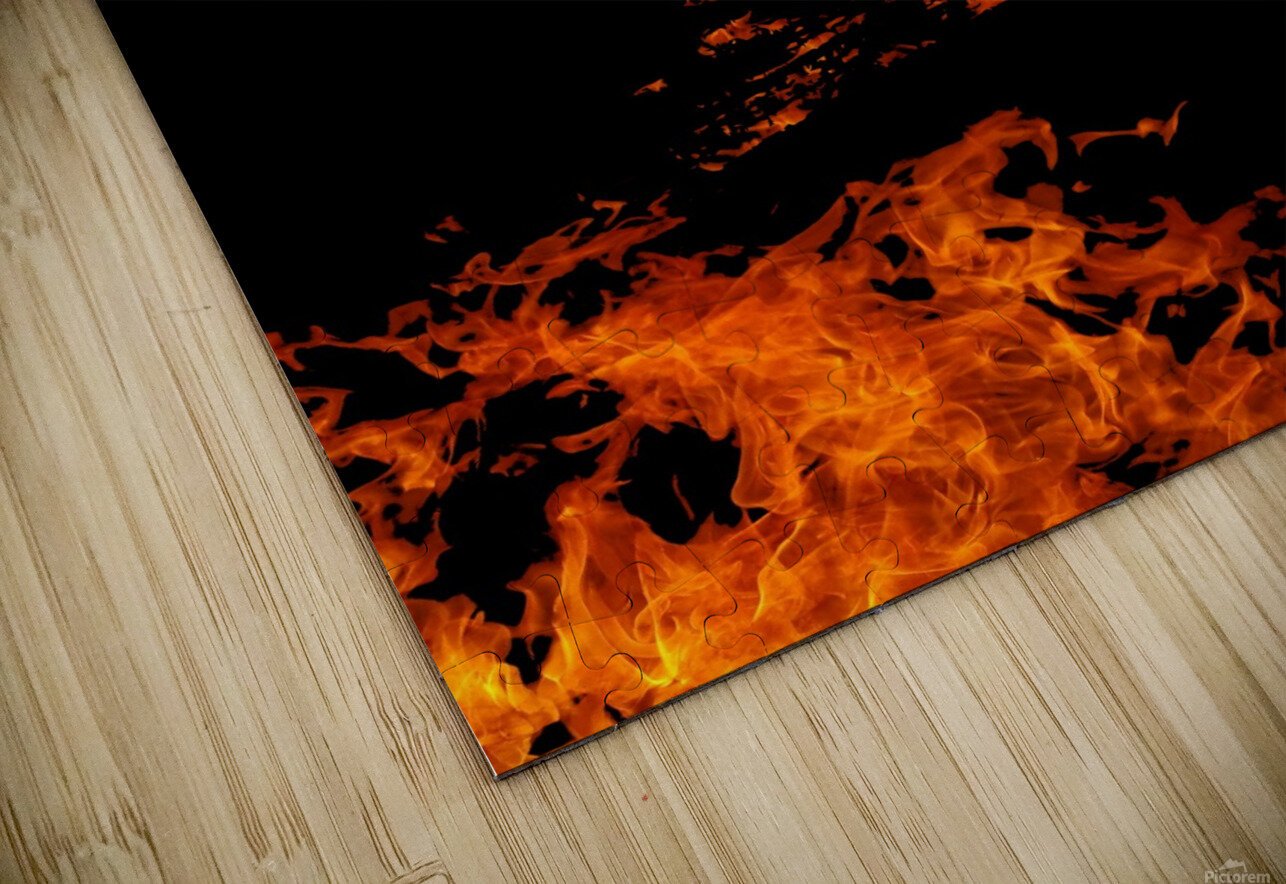 Burning on Fire Letter B HD Sublimation Metal print