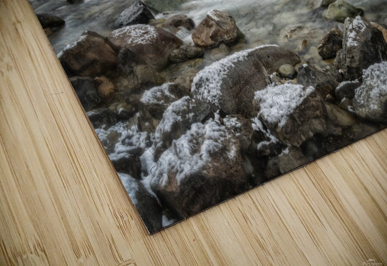 River in Winter HD Sublimation Metal print