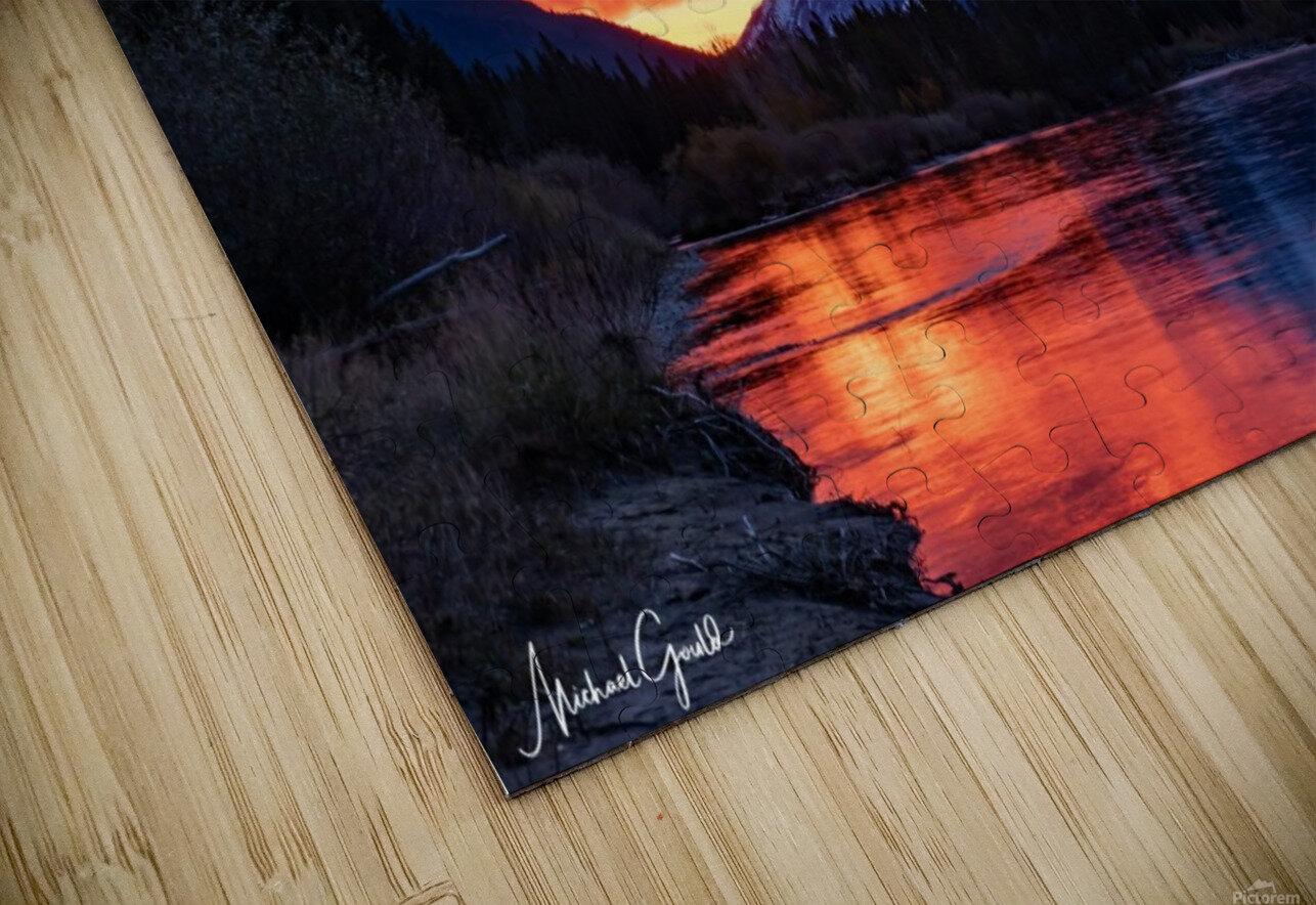 Bow River Sunrise East HD Sublimation Metal print
