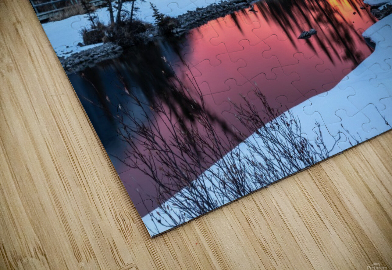 Sunrise At Policemans Creek Alberta HD Sublimation Metal print
