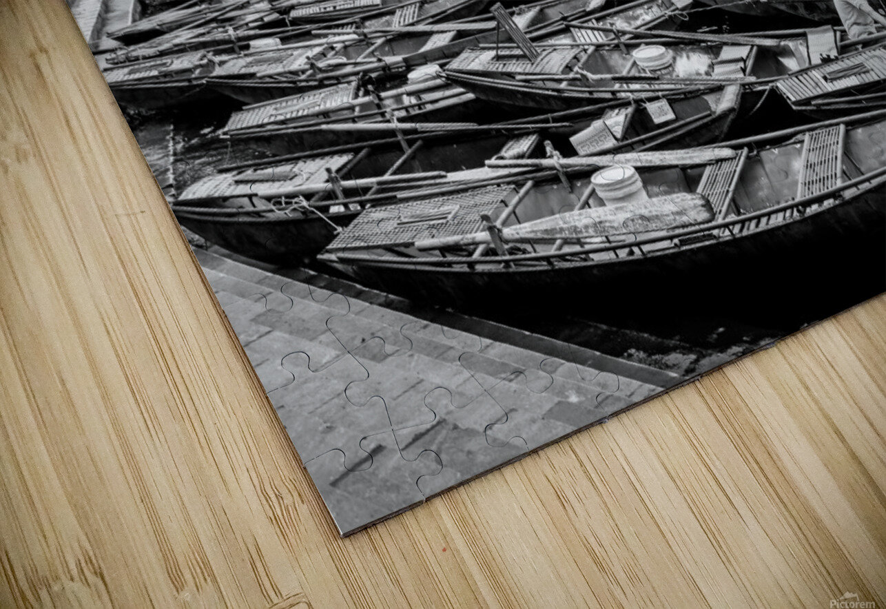Boats in the river of Vietnam HD Sublimation Metal print