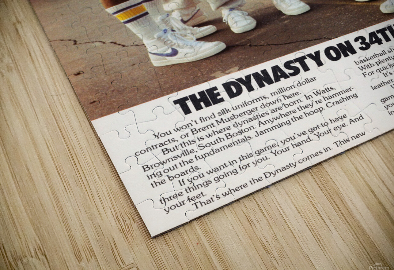 1981 vintage nike shoe ads dynasty on 34th street retro basketball poster HD Sublimation Metal print