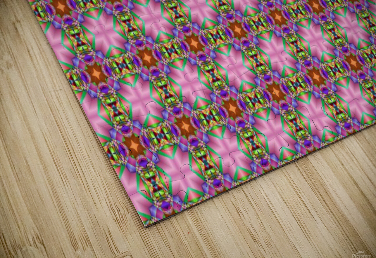 seamlesspsychedelicpattern HD Sublimation Metal print