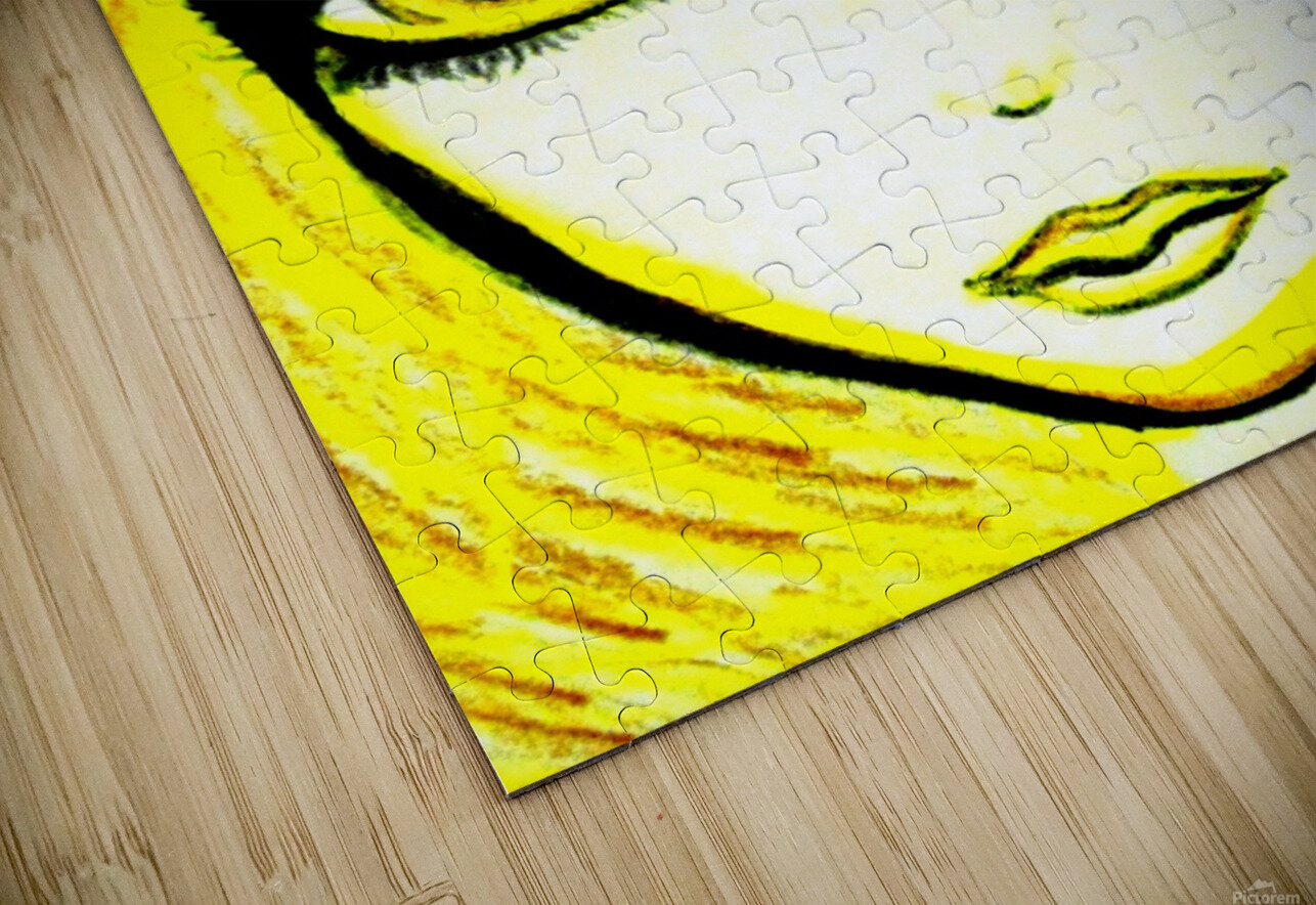 yellowgirl1 HD Sublimation Metal print