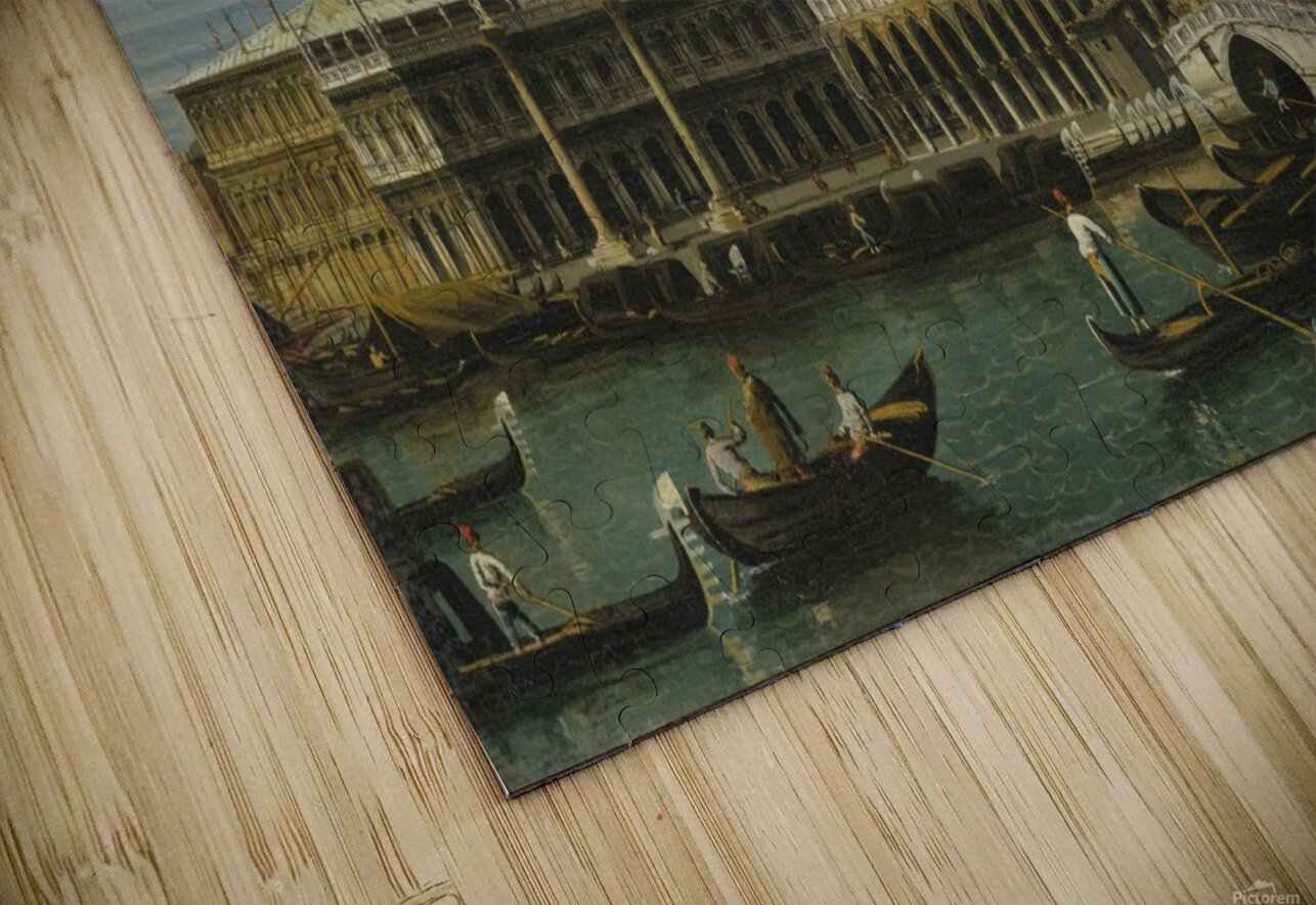 Venice, a view of the Molo, looking West, with the Palazzo Ducale and south side of the Piazzeta HD Sublimation Metal print