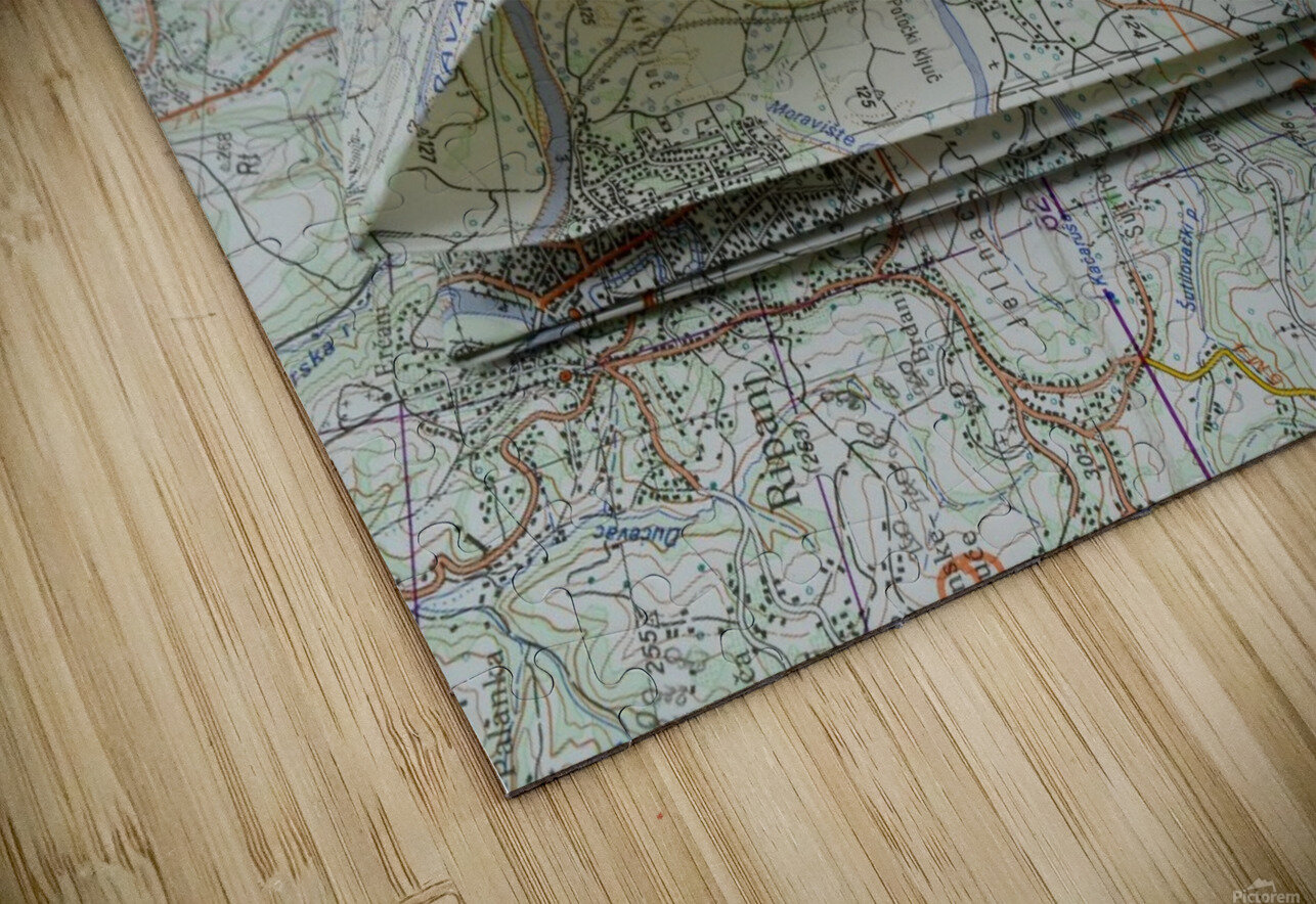 map navigation orientation drawing geography HD Sublimation Metal print