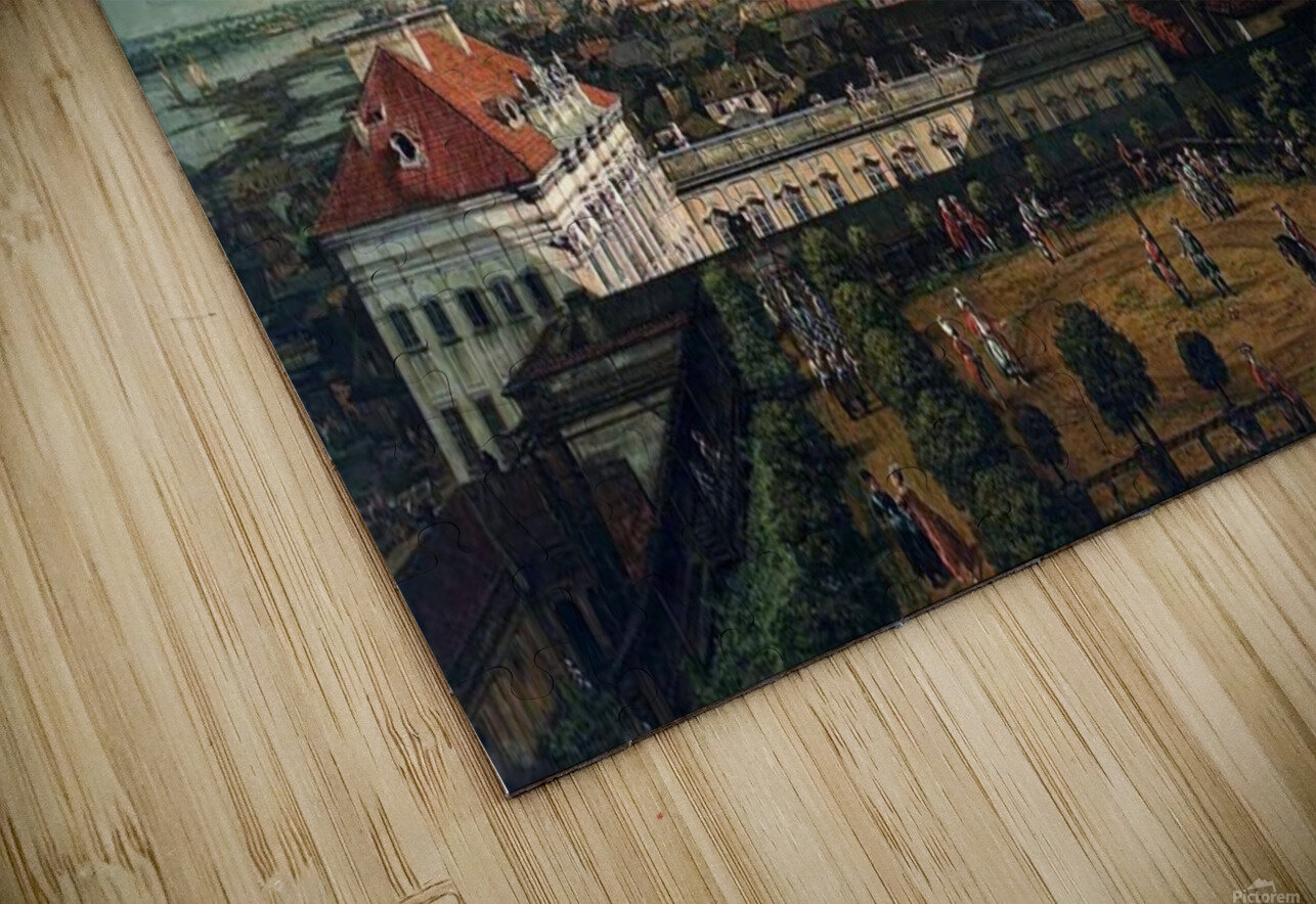 View of Warsaw from the terrace of the Royal Castle HD Sublimation Metal print
