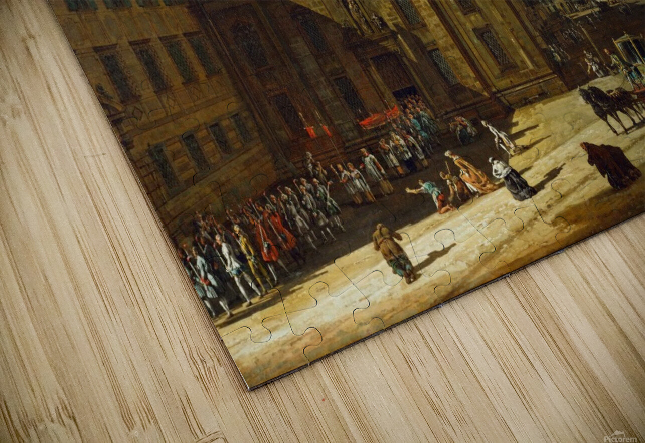 Procession in Dresden HD Sublimation Metal print