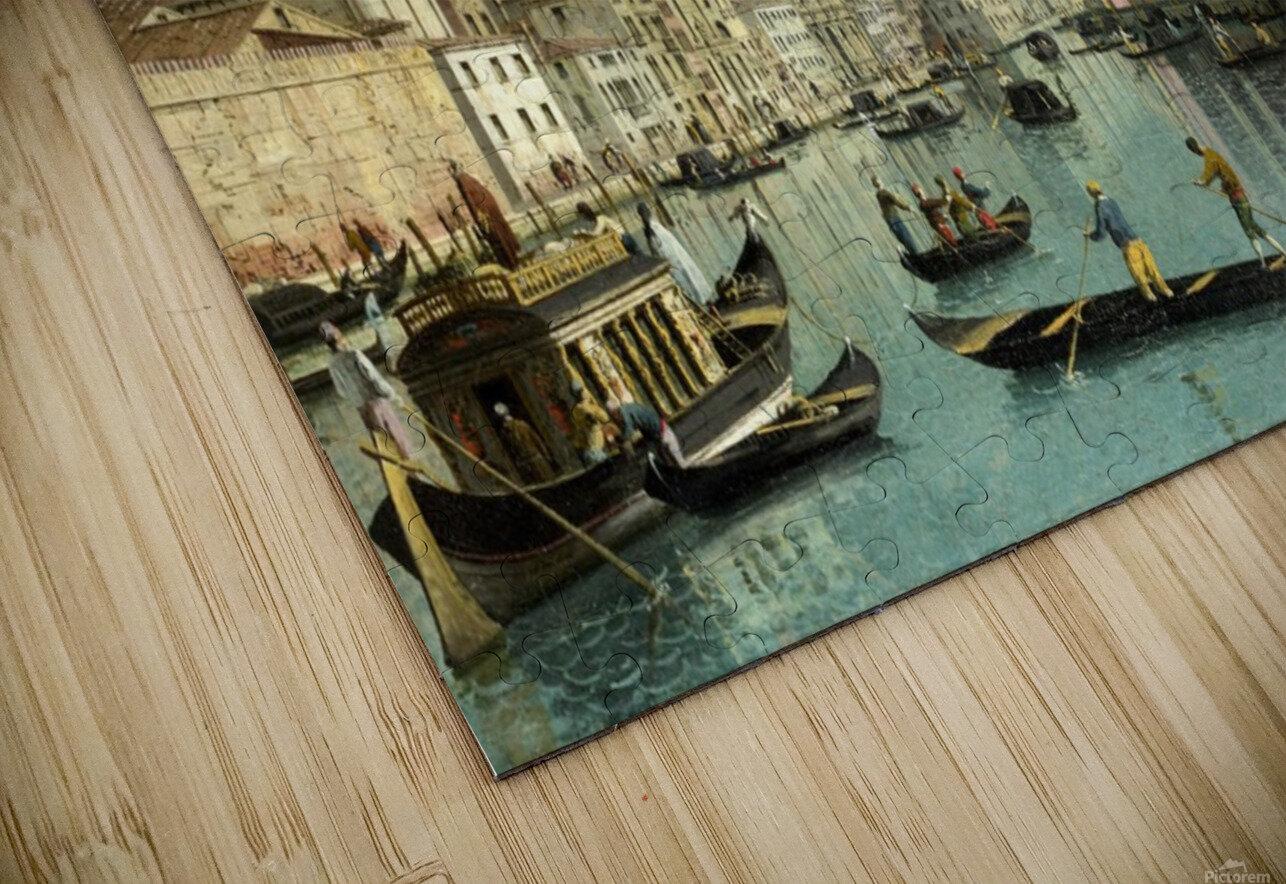 The Grand Canal facing Santa Croce HD Sublimation Metal print
