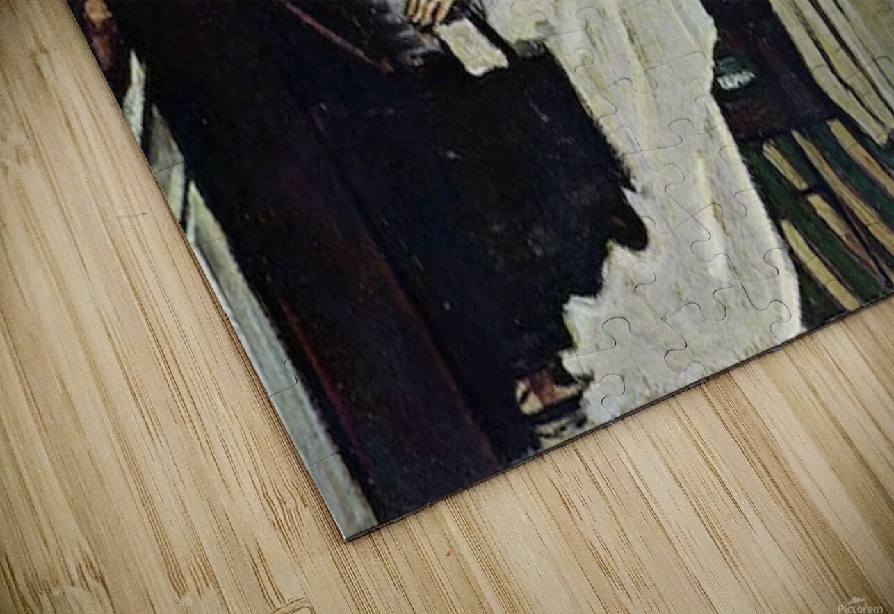 Girl at Piano by Cezanne HD Sublimation Metal print
