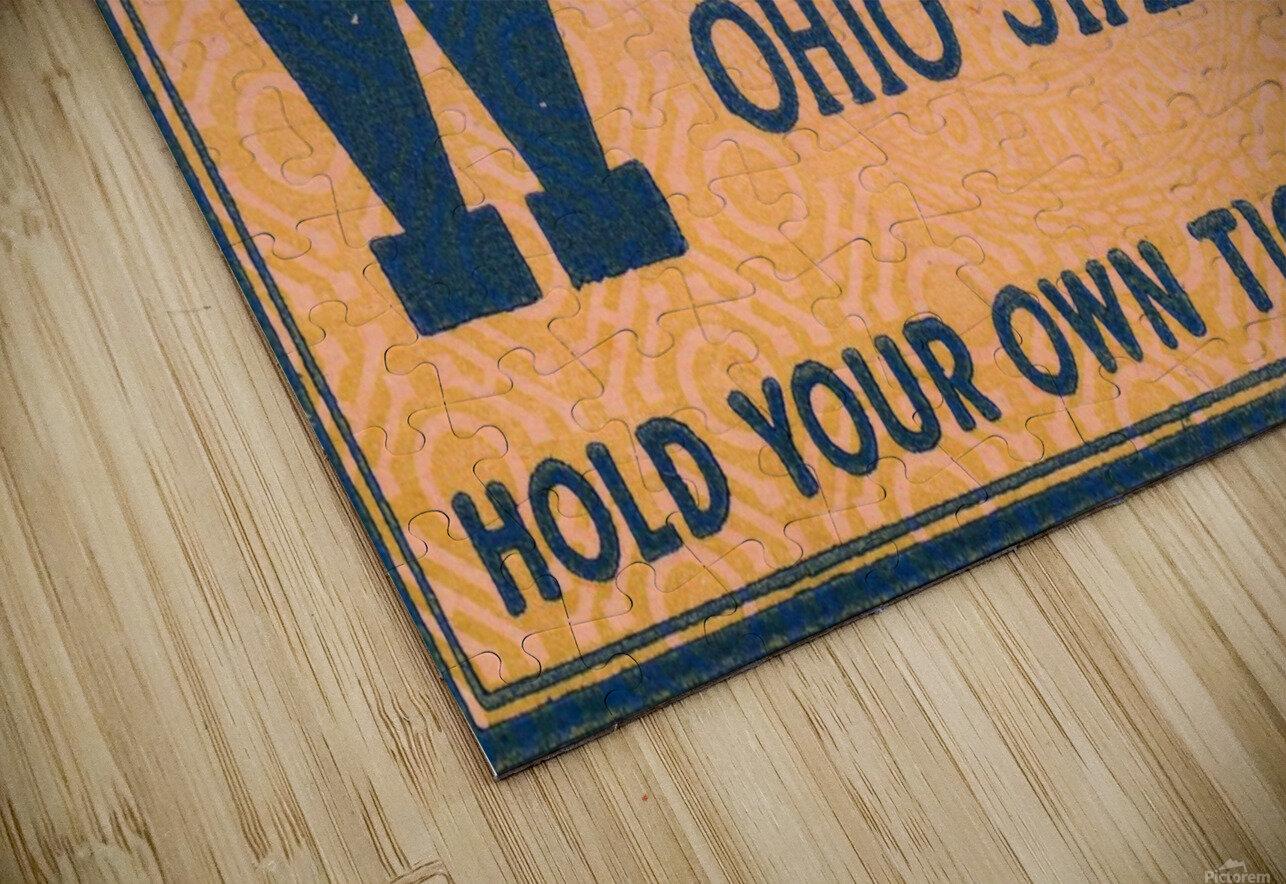 ticket stub metal sign osu buckeyes football vintage tickets wood prints HD Sublimation Metal print