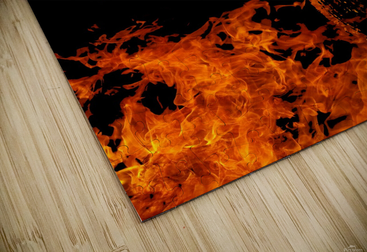 Burning on Fire Letter M HD Sublimation Metal print