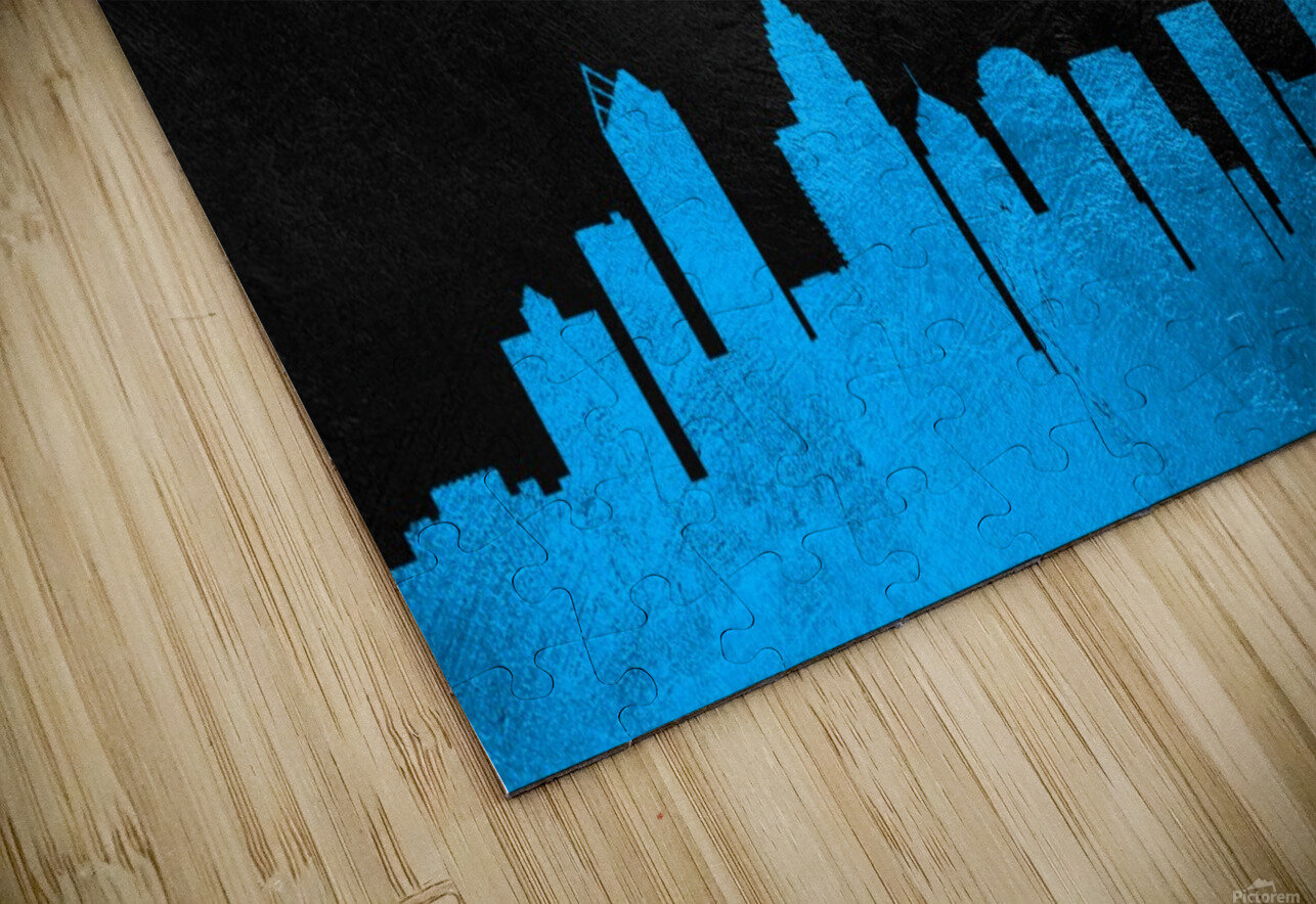 Carolina Panthers Skyline HD Sublimation Metal print