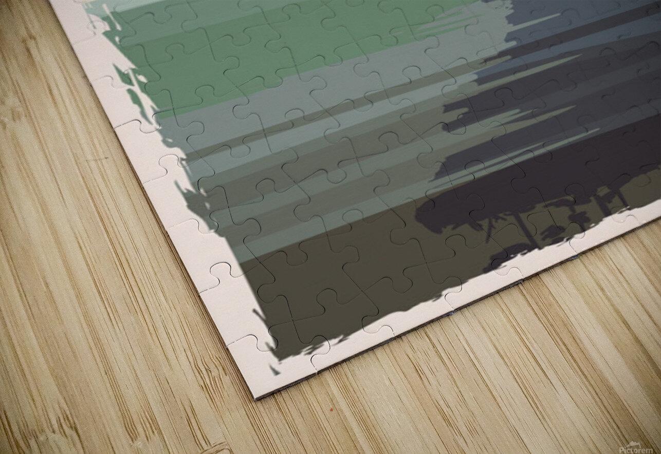 michigan retro poster usa michigan travel illustration united states america HD Sublimation Metal print