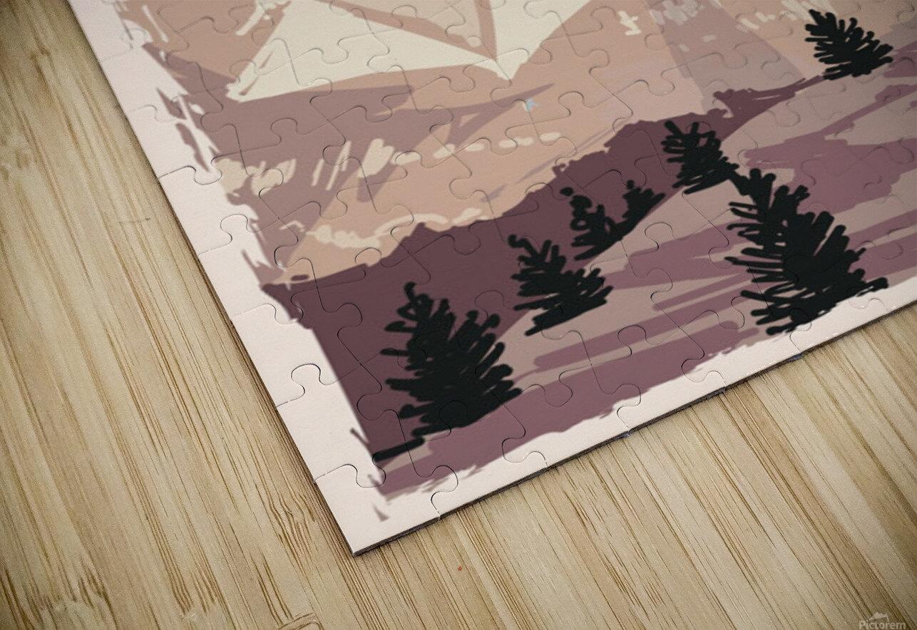 south dakota retro poster usa south dakota travel illustration united states america HD Sublimation Metal print