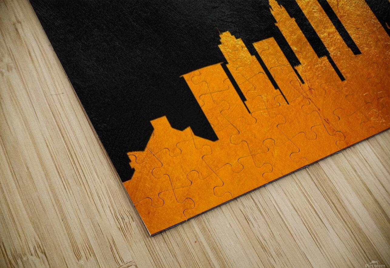 Cleveland Ohio Skyline Wall Art HD Sublimation Metal print