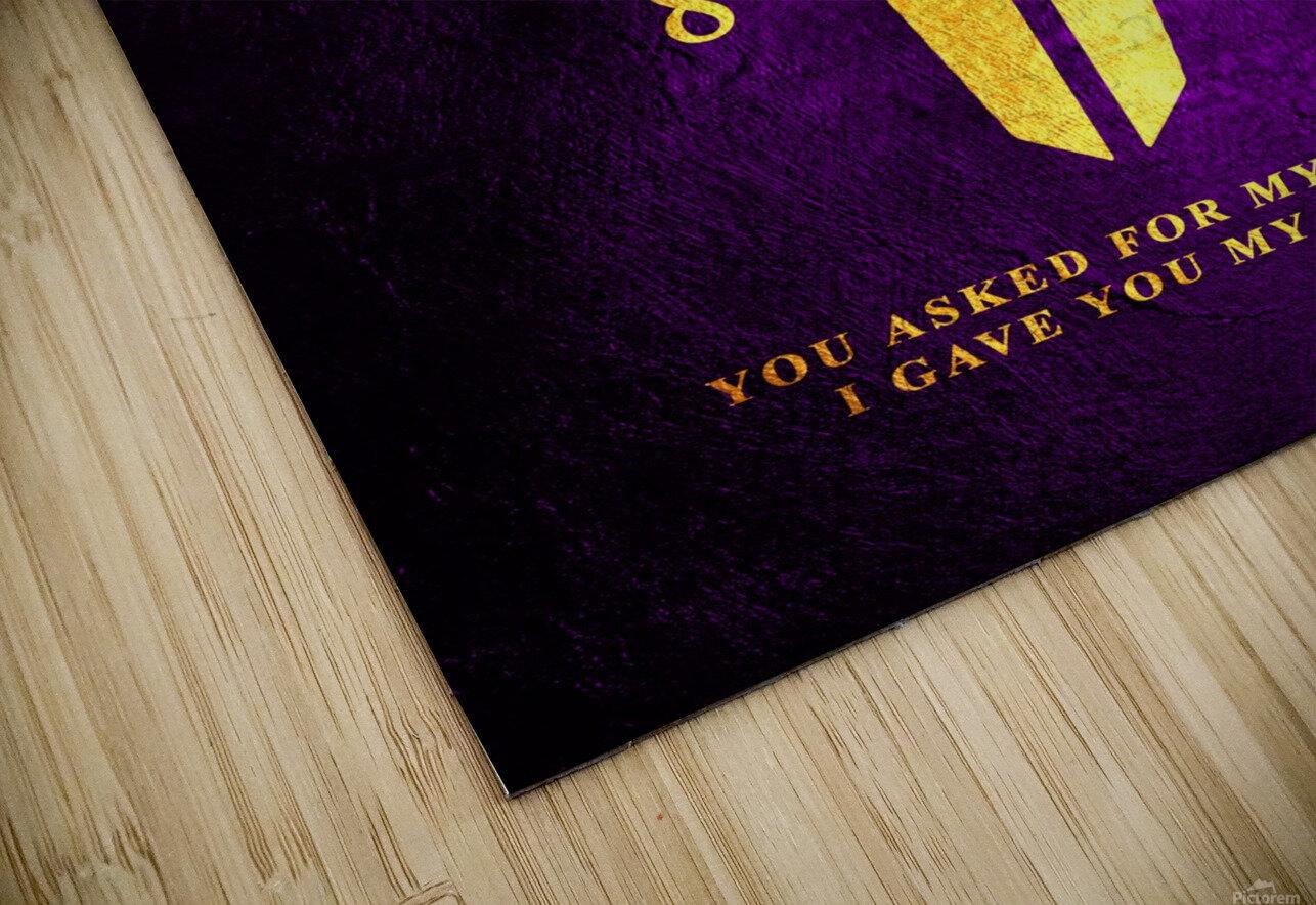 Kobe Bryant Tribute HD Sublimation Metal print