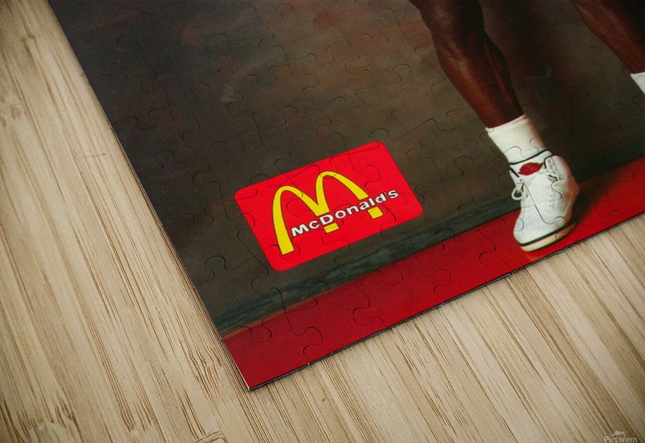 1987 McDonalds Michael Jordan Ad Poster HD Sublimation Metal print