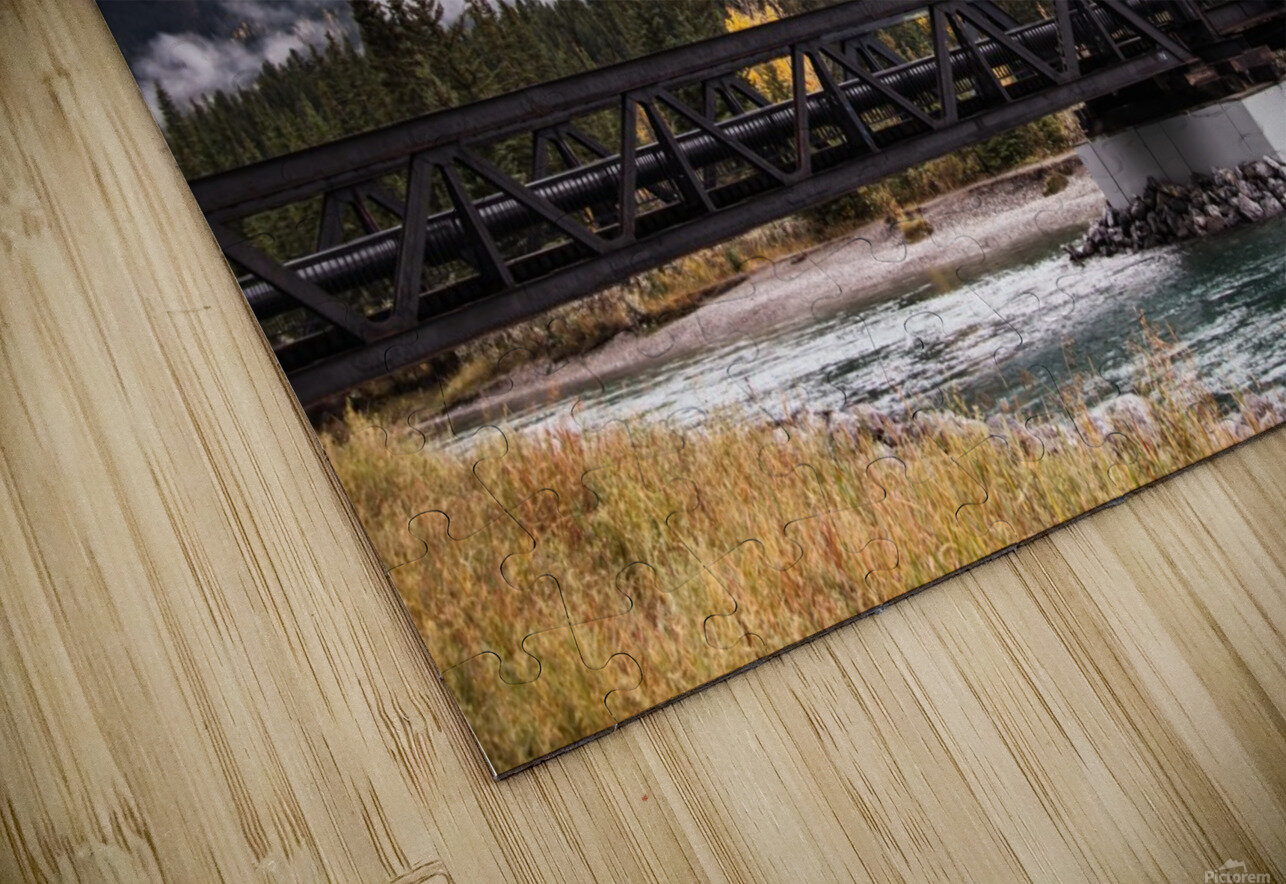 The Engine Bridge Canmore in Fall HD Sublimation Metal print