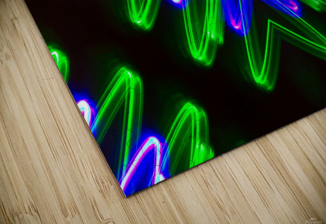 Neon Lights  HD Sublimation Metal print