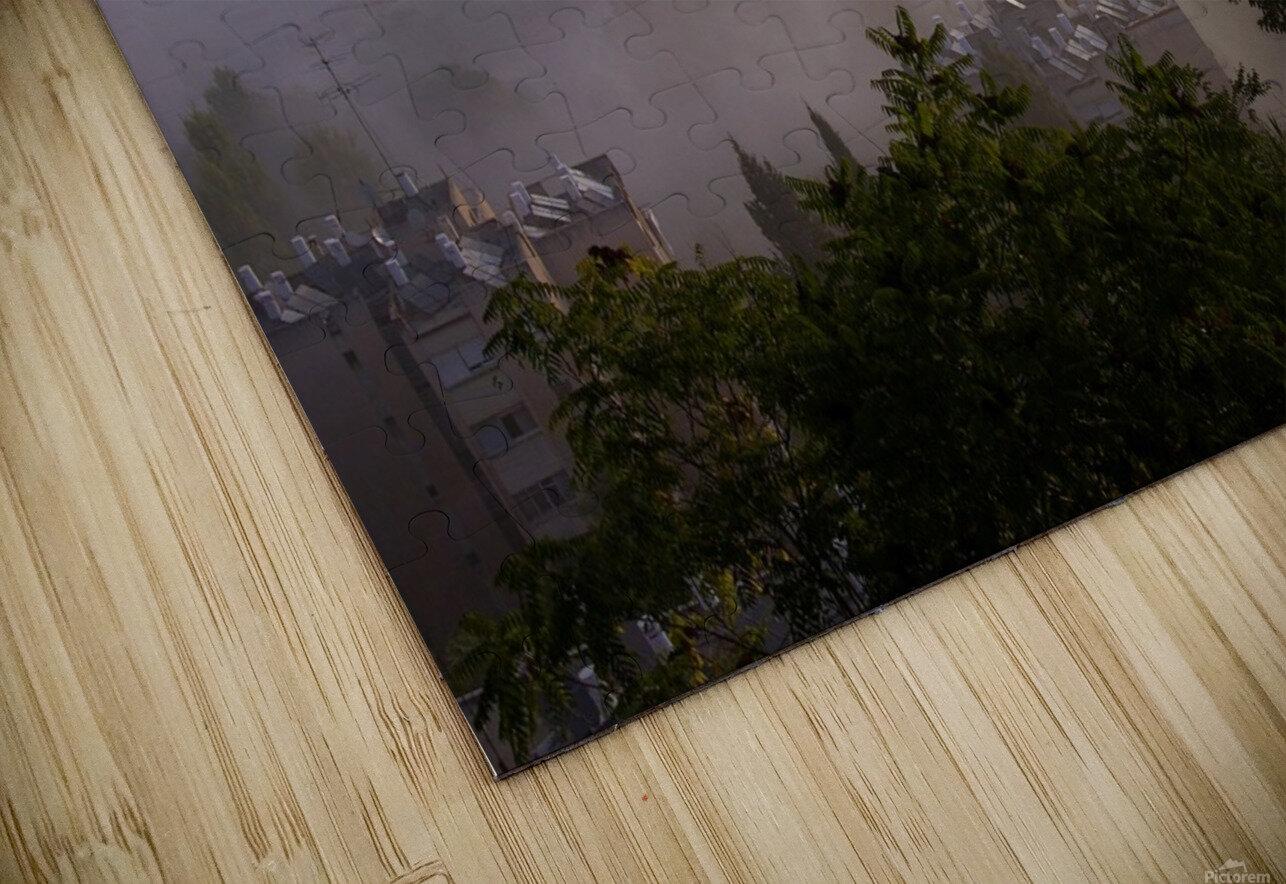 Foggy morning HD Sublimation Metal print