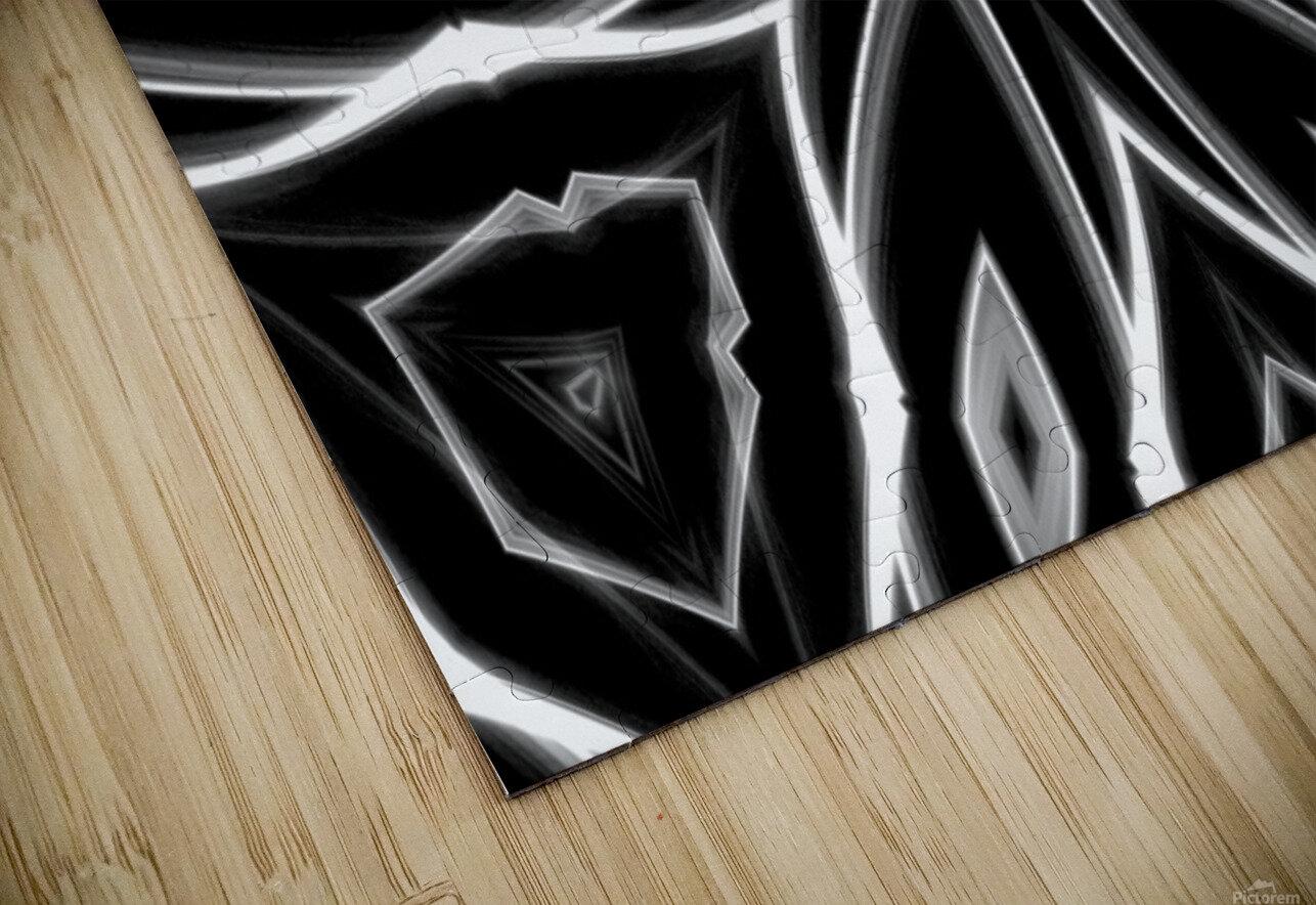 Monochrome Graffiti HD Sublimation Metal print
