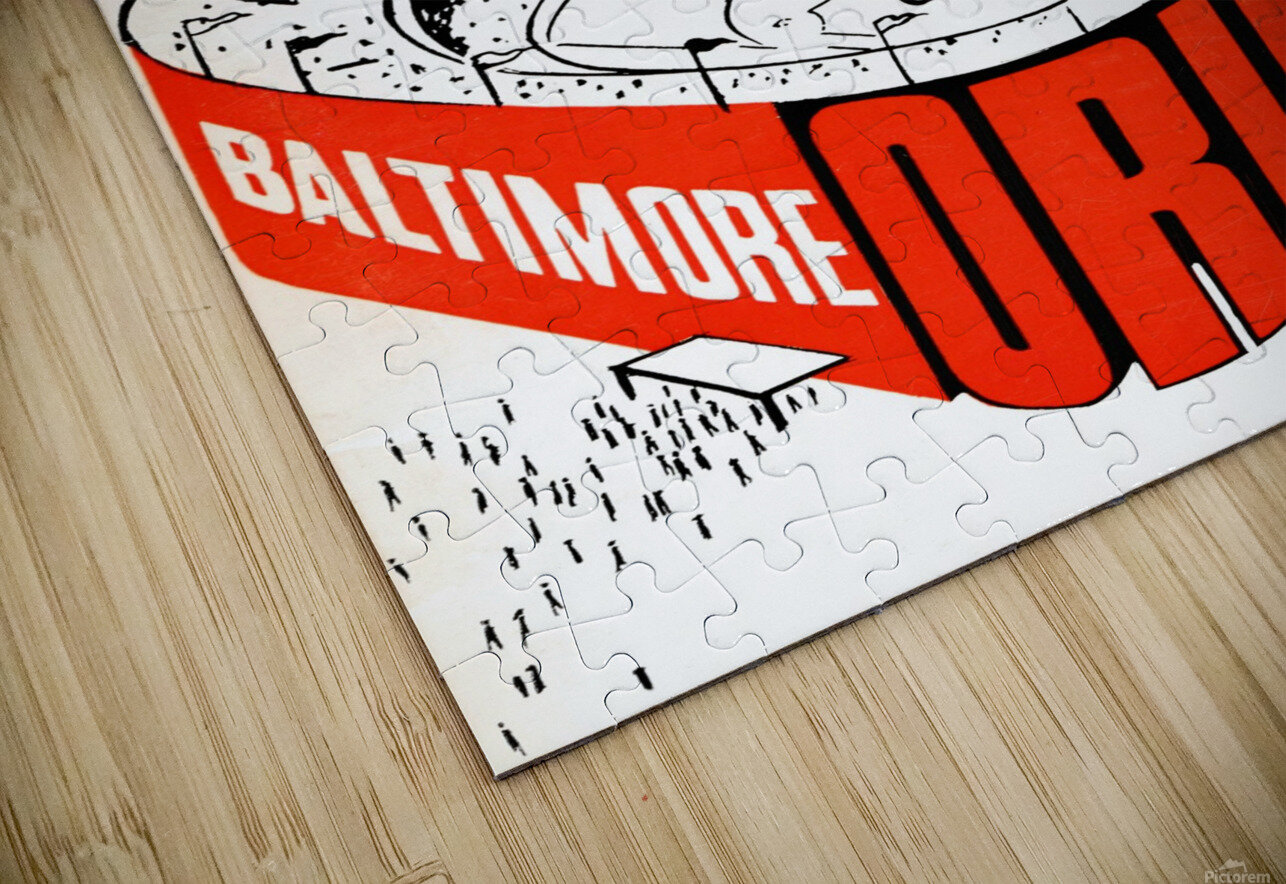 hal decker artist baltimore orioles poster Impression de sublimation métal HD