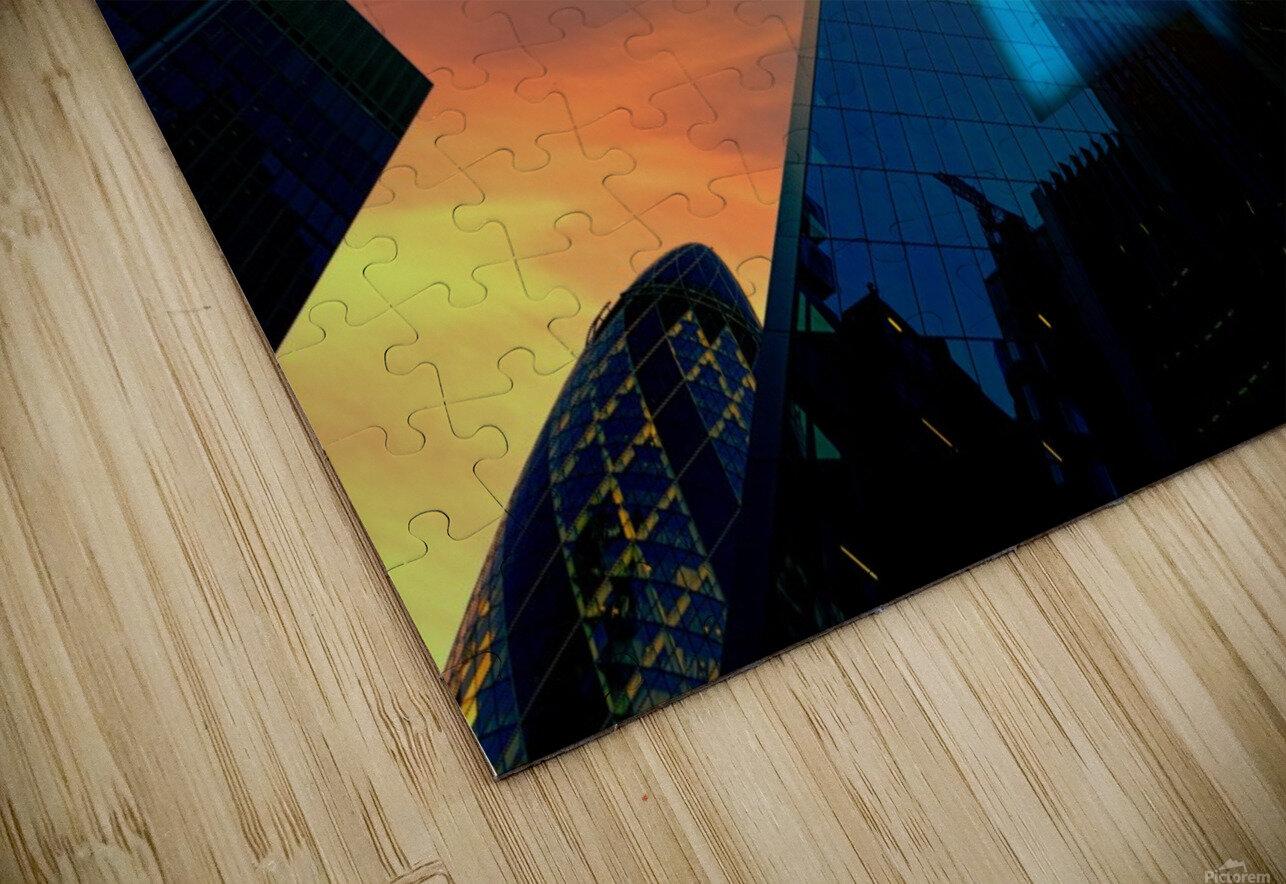 london skyscraper lighting contrast_1588277165.5591 HD Sublimation Metal print