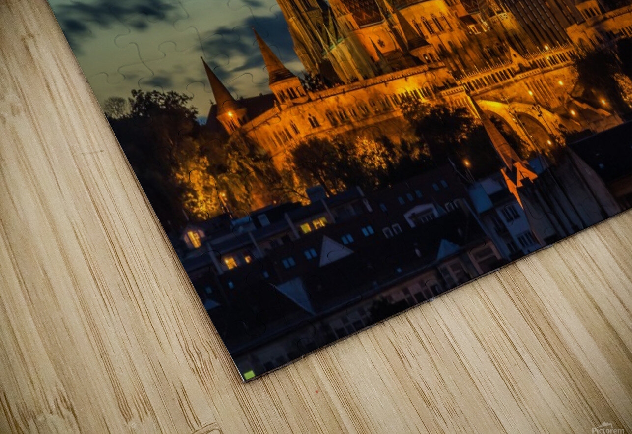 budapest church architecture HD Sublimation Metal print