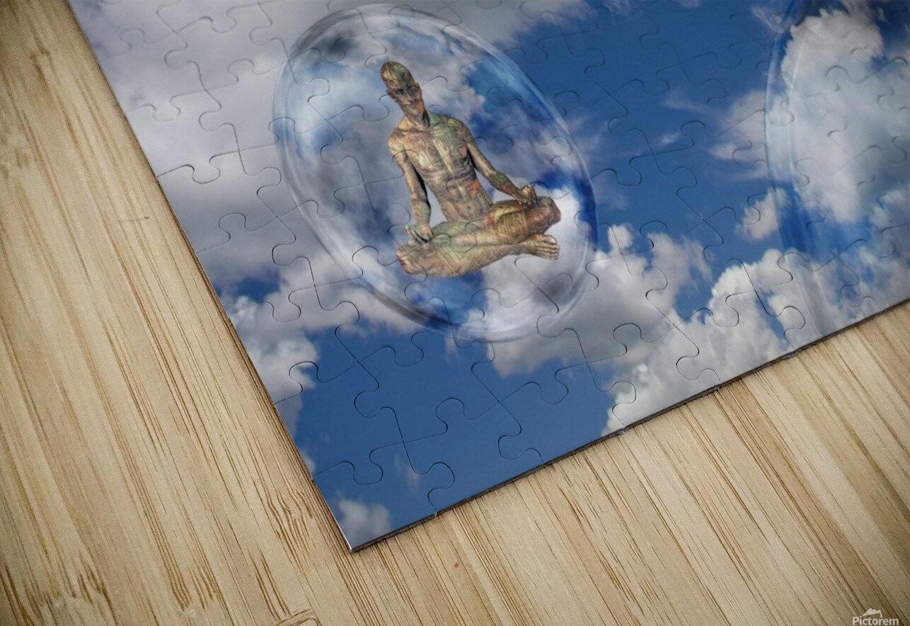Cyborgs Meditation HD Sublimation Metal print