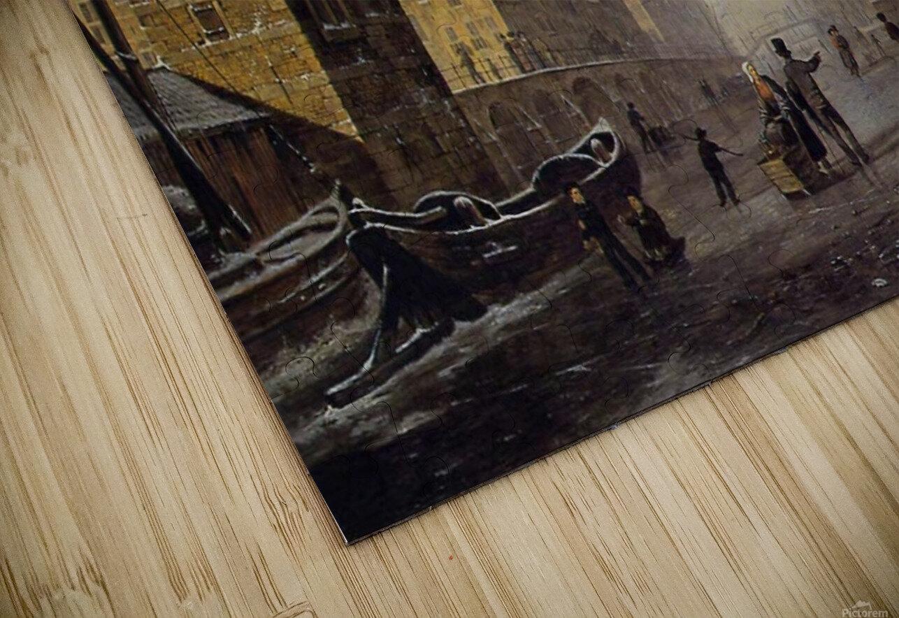 Pompenburg met Hofpoort in de winter HD Sublimation Metal print