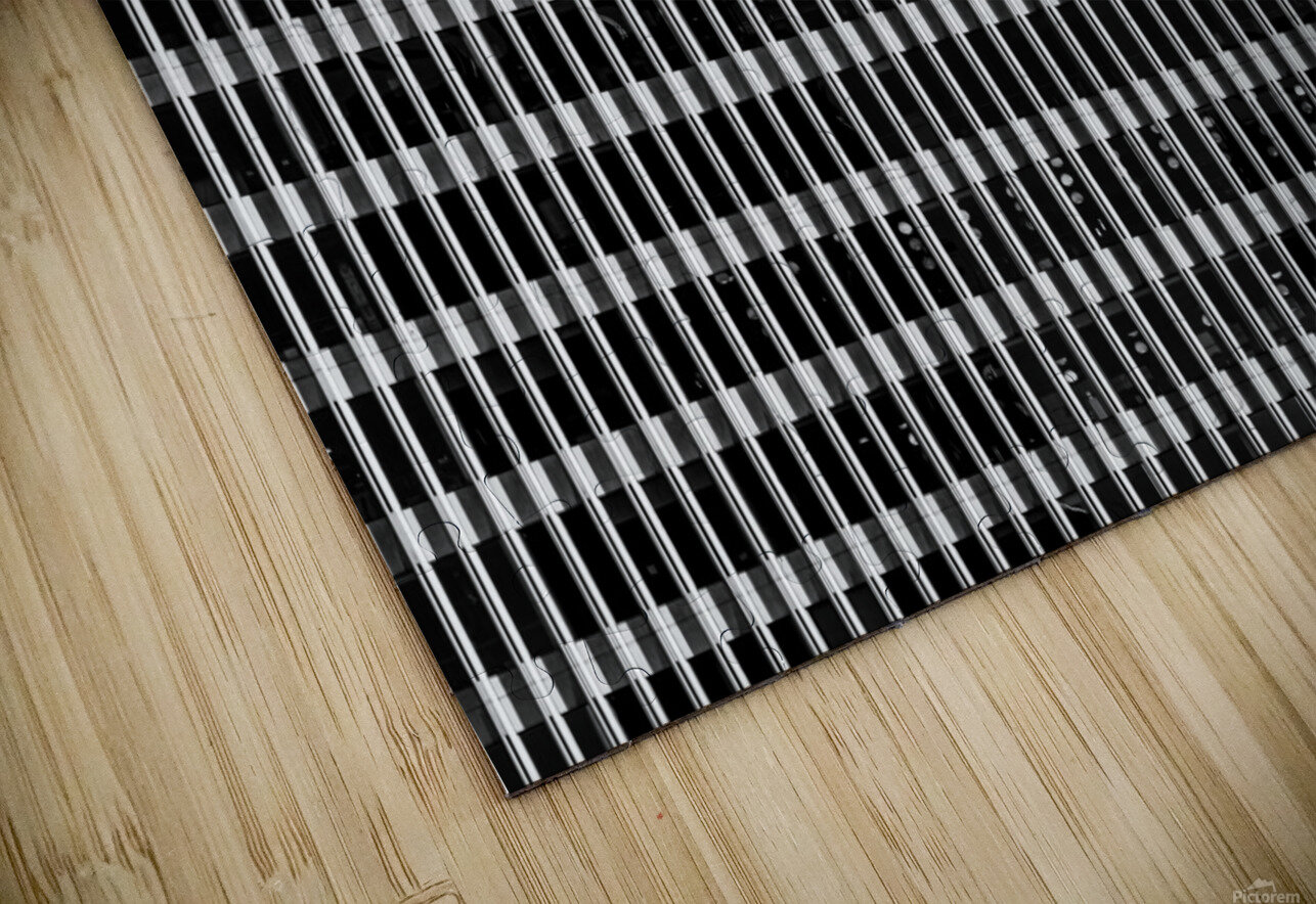 Black and White Skyscraper Windows HD Sublimation Metal print